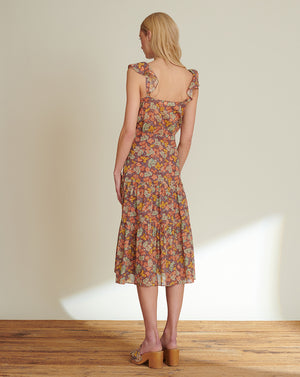 Malgosia Floral Midi Dress - Multi