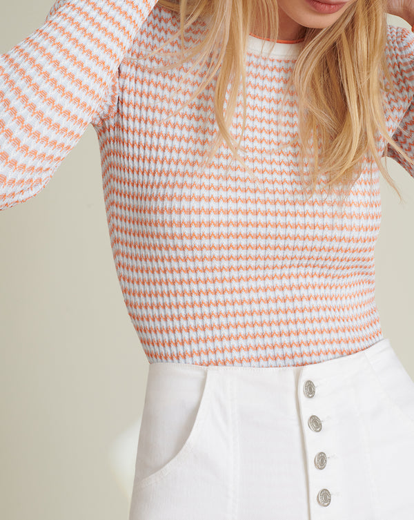 Siena Scoop-Neck Pullover - Orange Multi