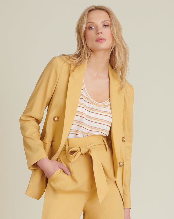 Nisha Oversized Jacket - Vintage Yellow