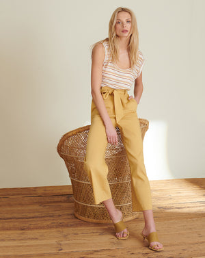 Elice Wide-Leg Pant - Vintage Yellow