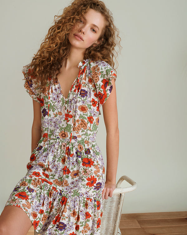 Zee Floral Minidress - Off White