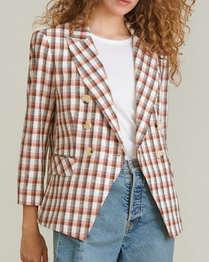 Empire Plaid Dickey Jacket - Multi