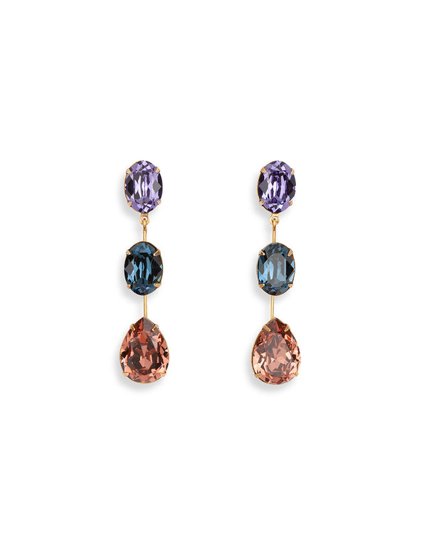 Allanah Triple Drop Earring - Multi