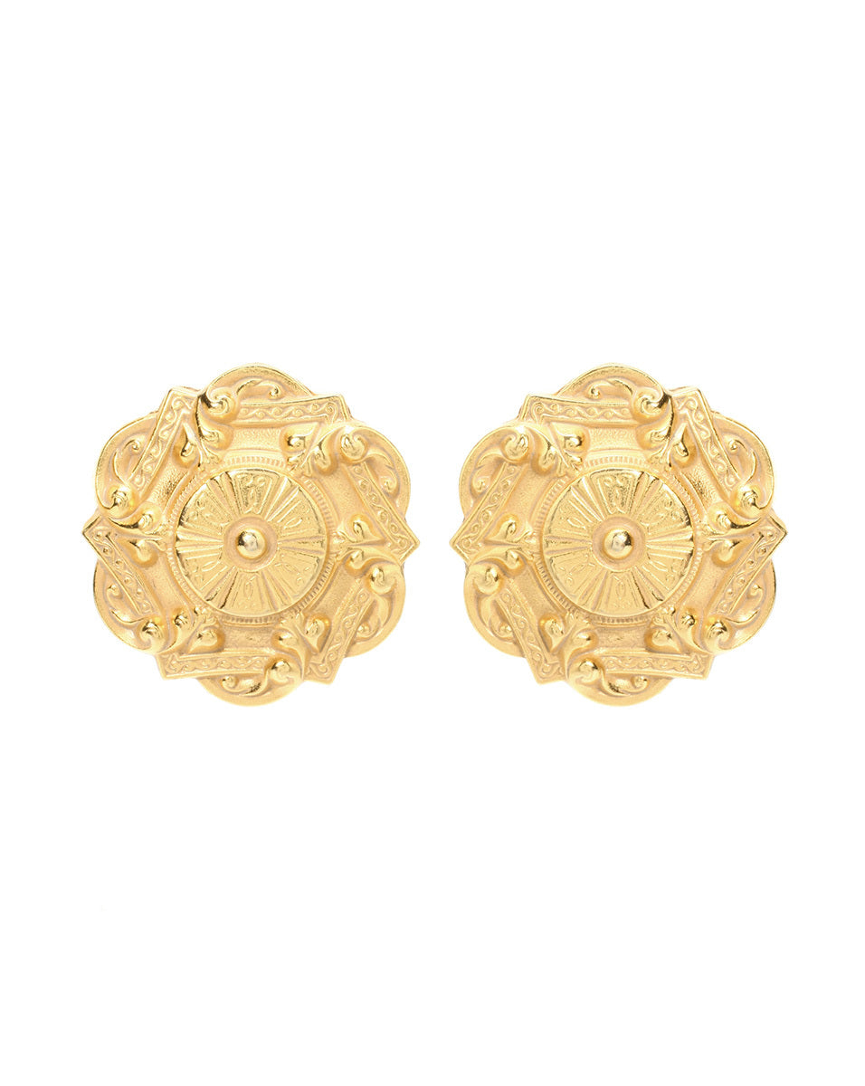 Royal Charm Sculptural Clip On Earrings