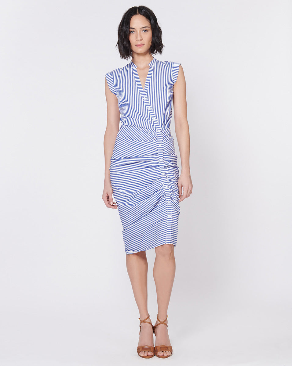 Ruched Shirtdress