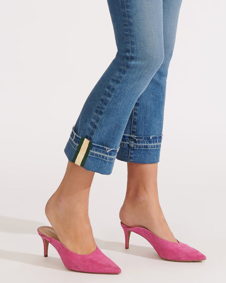 Carolyn High-Rise Baby-Boot Jean