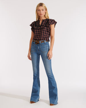 Beverly High-Rise Skinny-Flare Jean