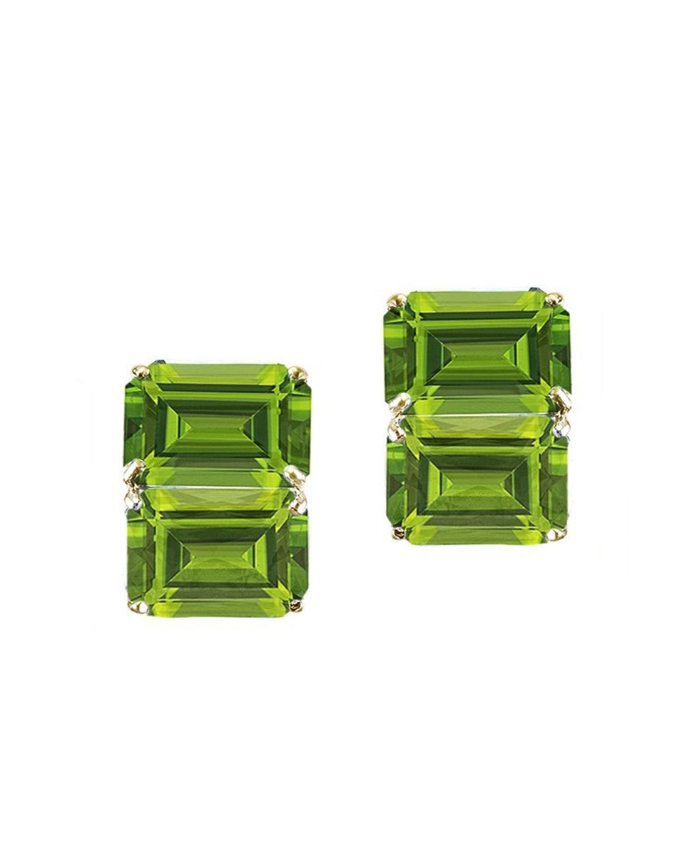 Double Horizontal Octagon Stack Earrings