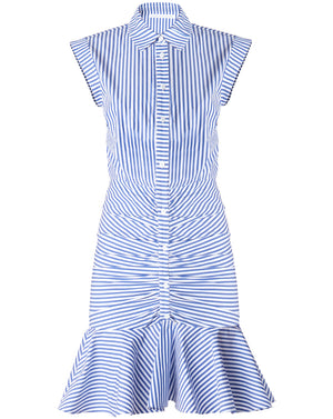 Bell Button Down Ruched Shirtdress