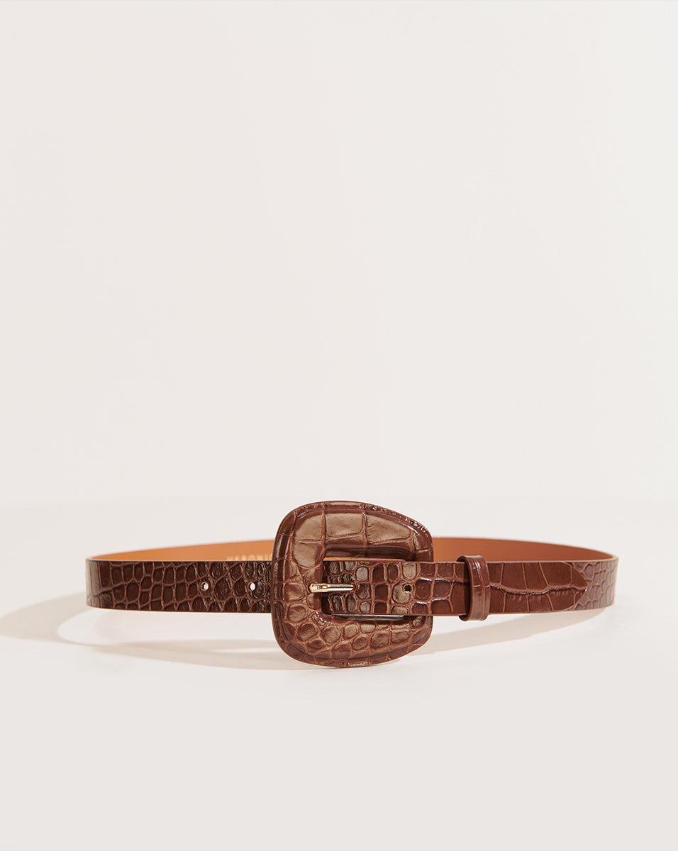 Elsy Embossed Croco - Brown