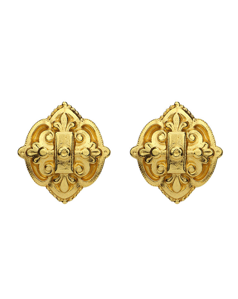 Gold Clip Earring - Gold