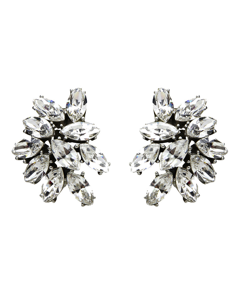 Crystal Cluster Earrings - Crystal