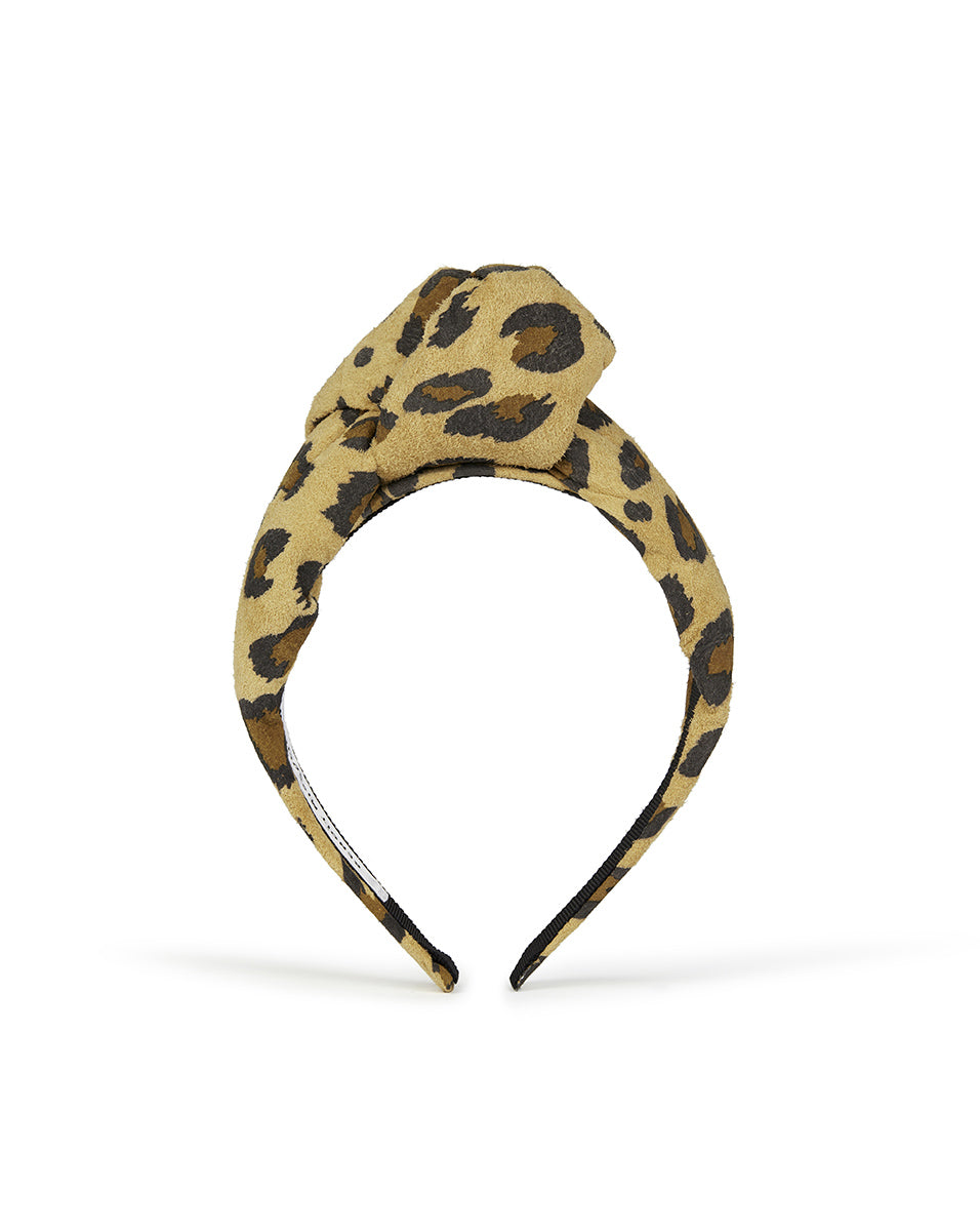 Charlotte Leather Headband - Leopard