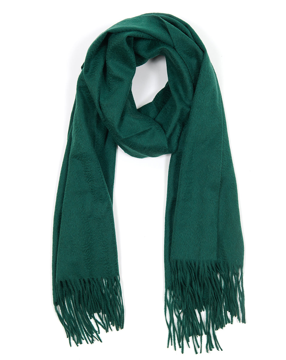 Woven Cashmere Wrap - Green