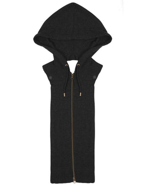 Cashmere Hoodie Dickey - Black