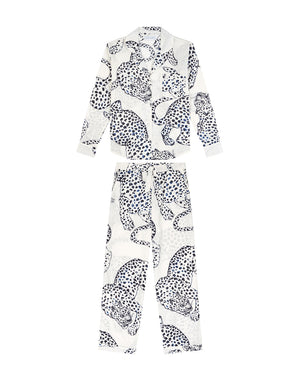 The Jag Print Long Pajama Set - Cream/Black