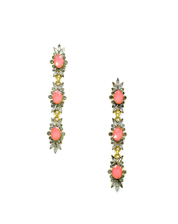 Elena Earrings - Coral