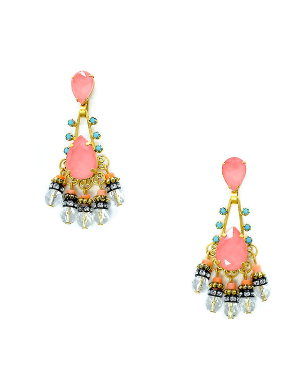Eloise Earrings - Coral