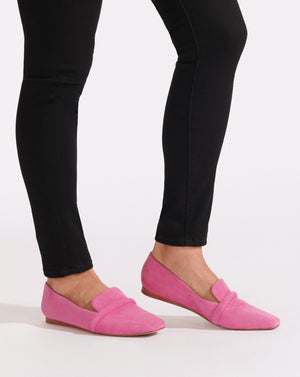 Grier Fine Suede Loafer - French Rose