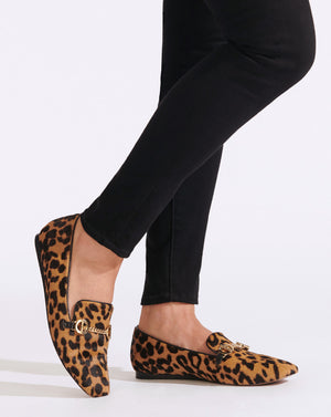 Grier Haircalf Loafer - Leopard / Gold