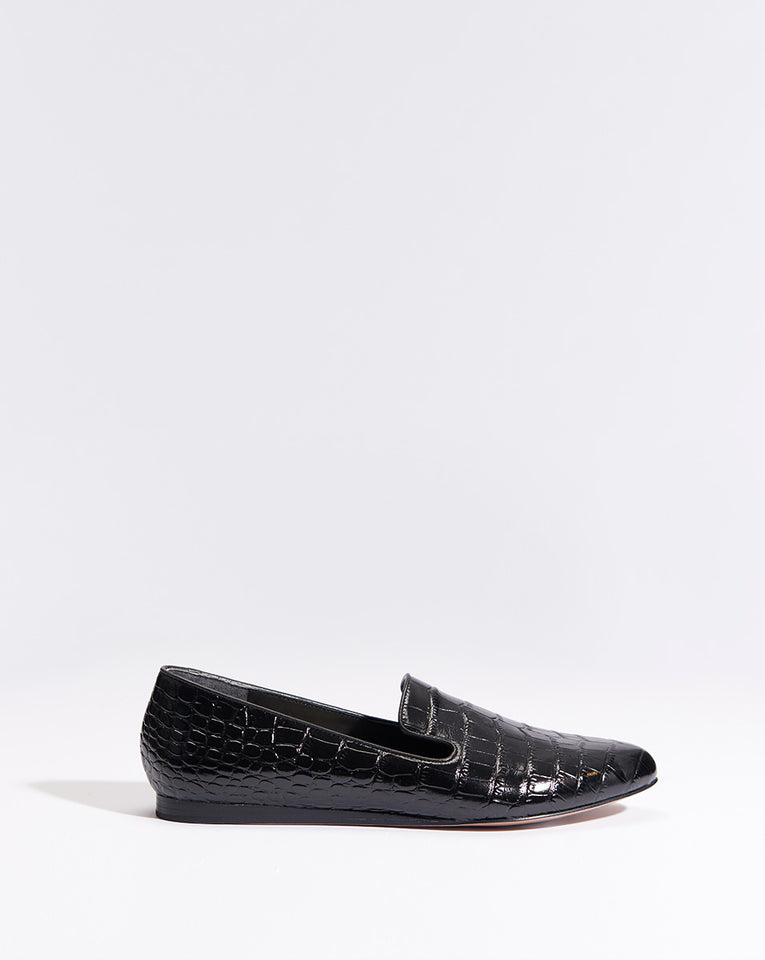 Griffin Embossed Croco - Black