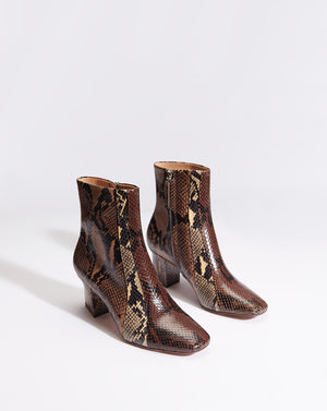 Felix Embossed Snake - Brown Multi