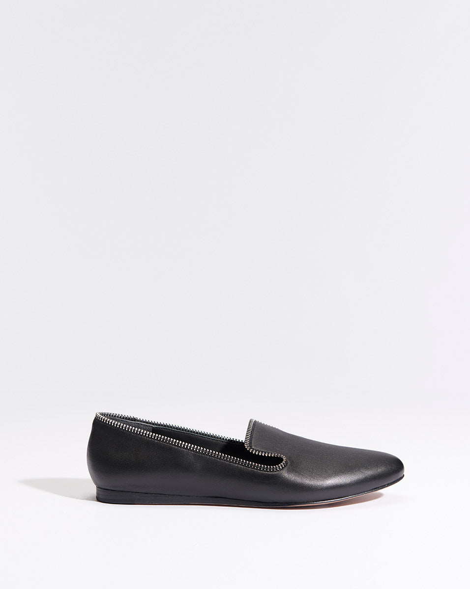 Griffin Nappa W/zip - Black