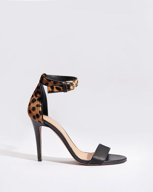 Roan Haircalf Sandal - Black Leopard