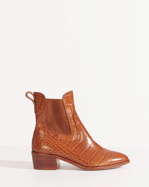 Wells Embossed Croco - Honey