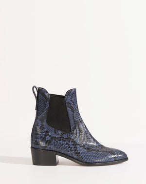 Wells Embossed Snake - Indigo