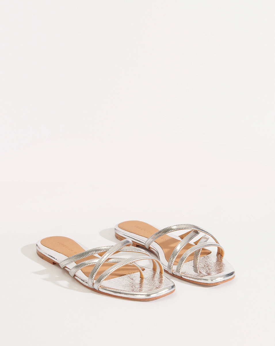 Martha Metallic Leather - Silver