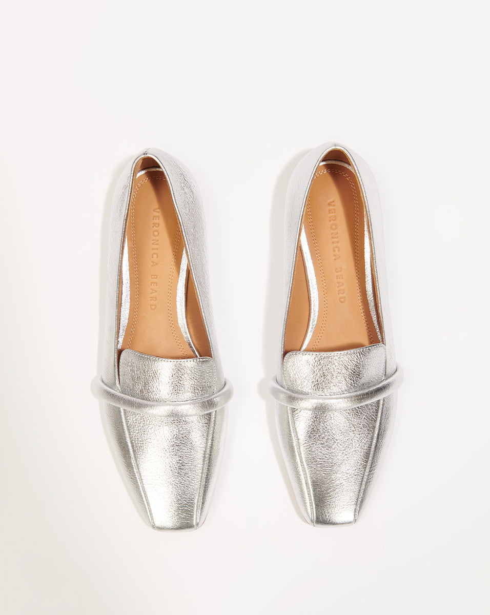 Grier Metallic Leather - Silver