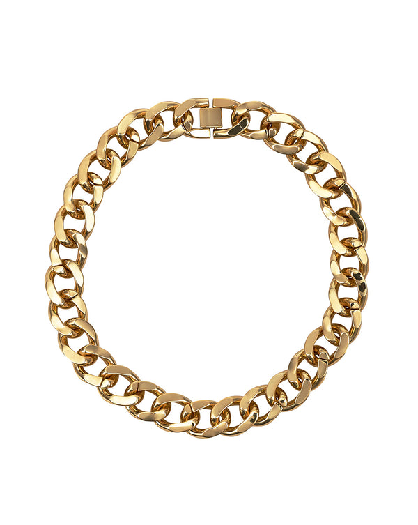 Armure Curb Collar Necklace - Gold