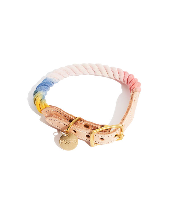 Henri Ombre Cotton Rope Collar - Tie Dye
