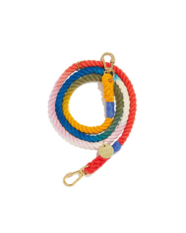 Henri Ombre Cotton Rope Dog Leash - Tie Dye