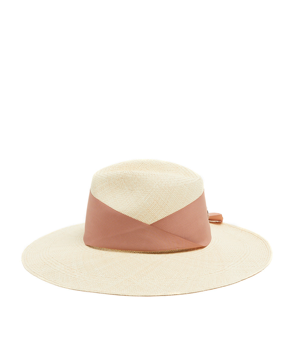 Gardenia Straw Fedora - Natural