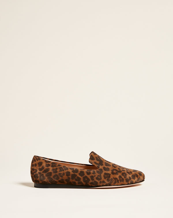 Griffin Leopard Loafer - Camel