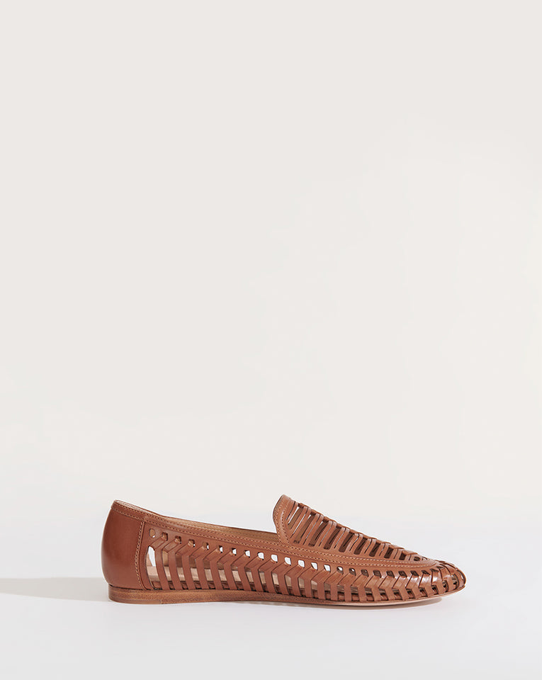 Greece Cutout Leather Loafer - Pecan