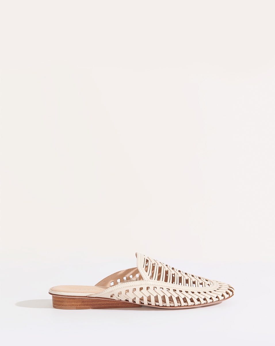 Albani Cutout Leather Mule