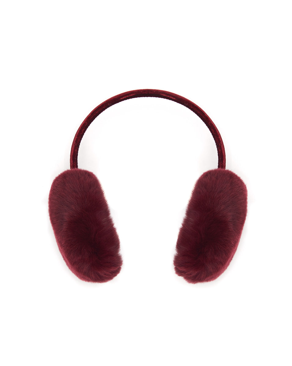 Rex Rabbit Earmuff - Burgundy