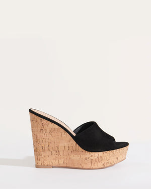 Dali Wedge Slide Sandal - Black