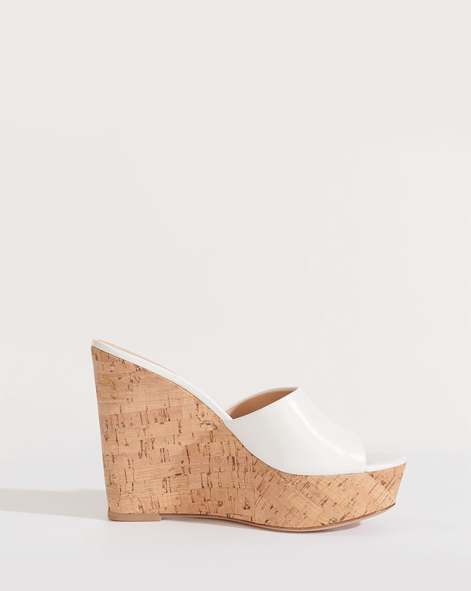 Dali Wedge Slide Sandal - White