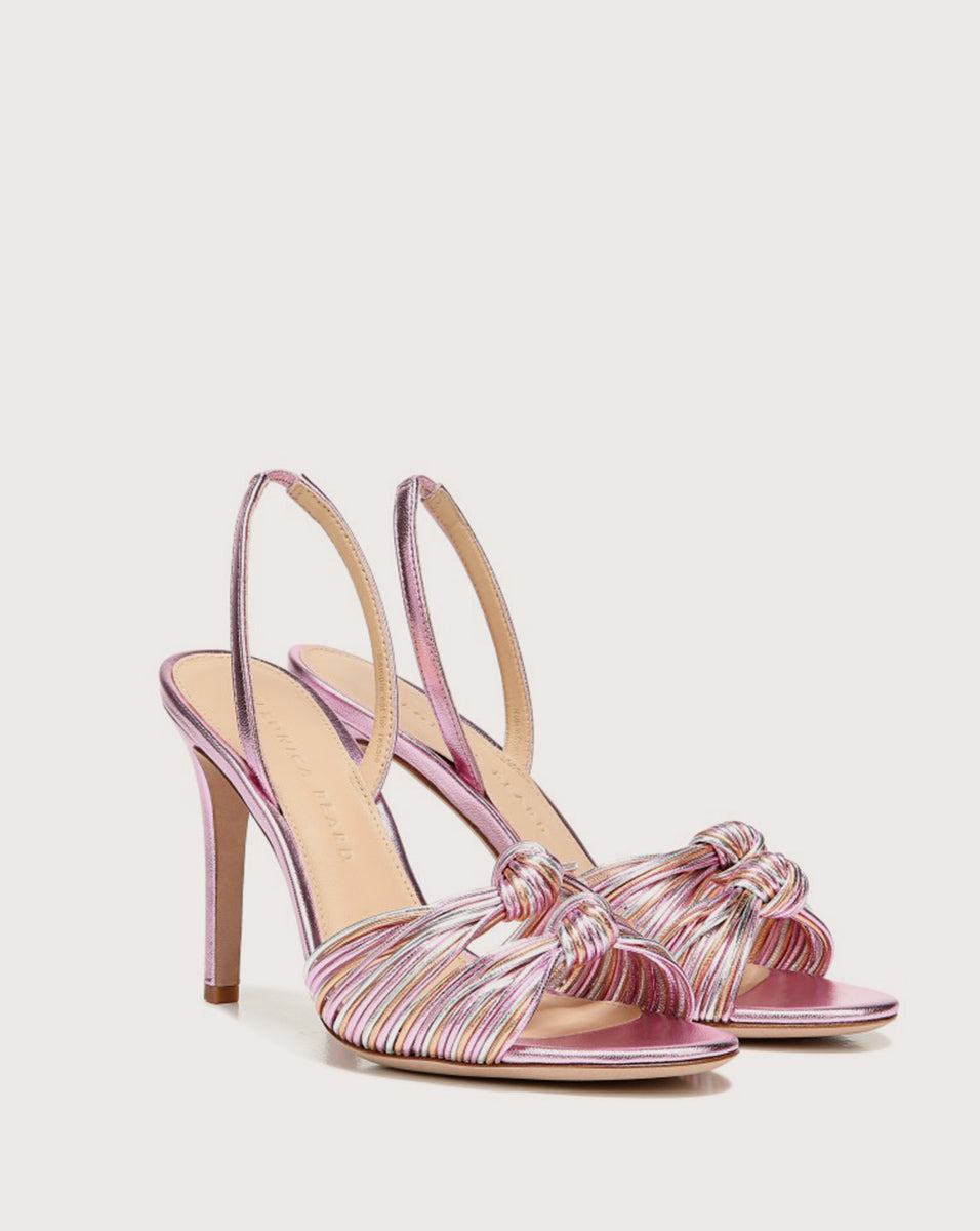 Alessia Knotted Stiletto Sandal - Pink Multi