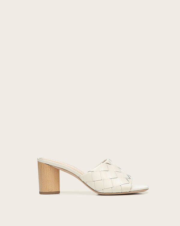 Kiele Leather Mule - White