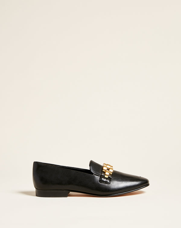 Alire Leather Loafer - Black