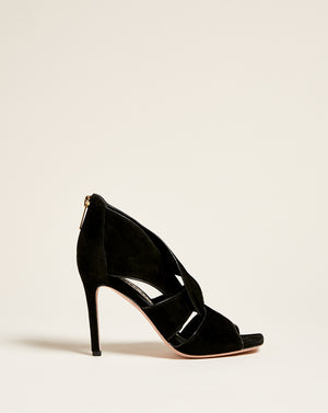 Aerin Heeled Sandal - Black