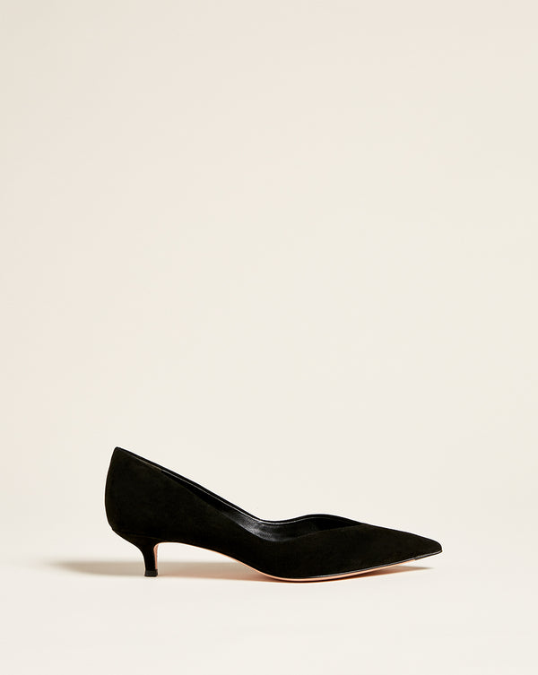 Fontaine Suede Pump - Black