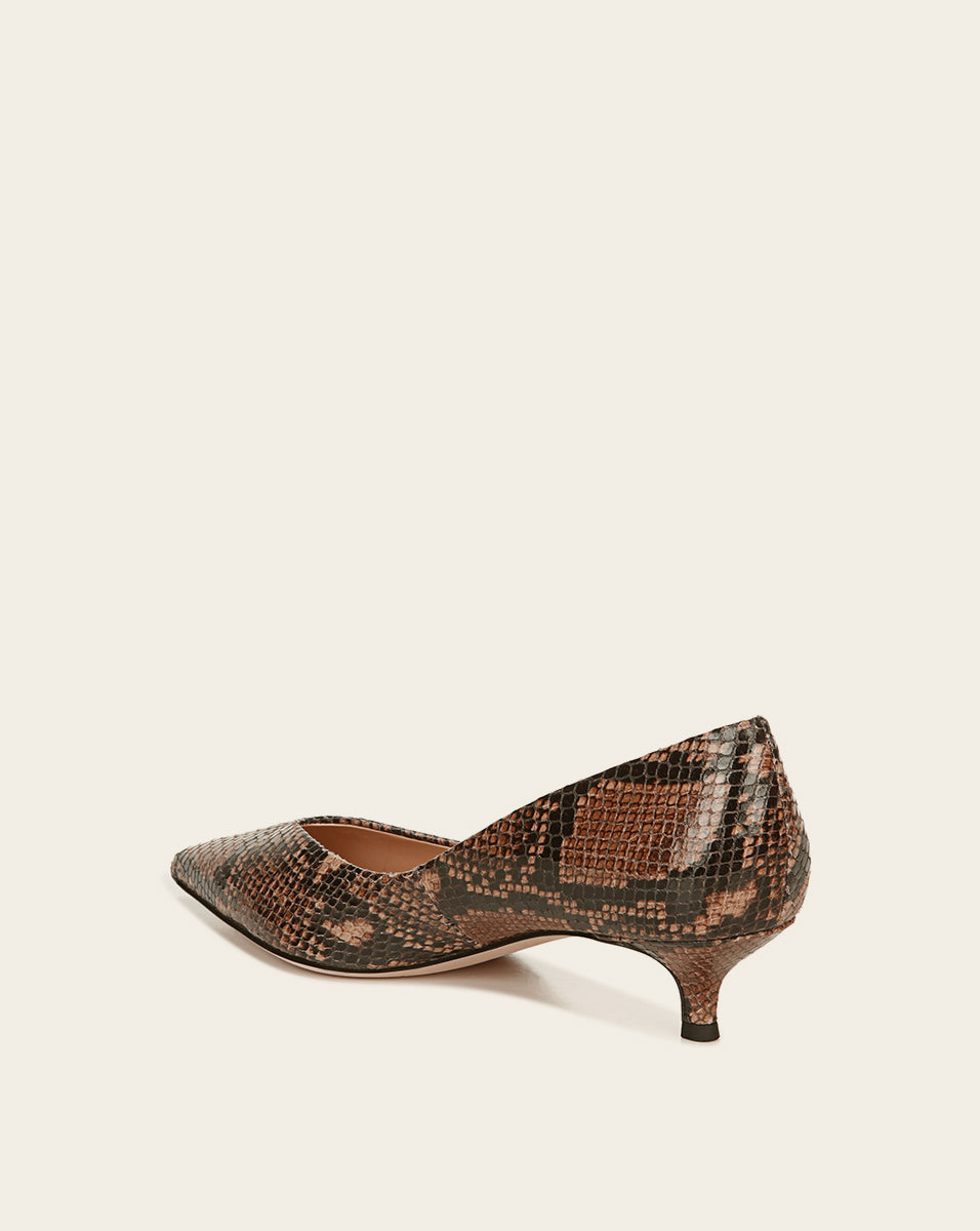 Fontaine Leather Pump - Espresso