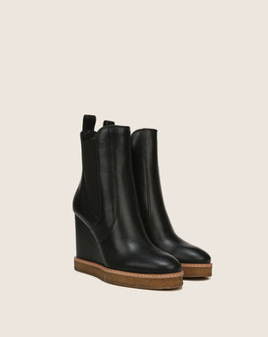 Aari Wedge Boot - Black