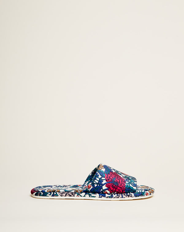 Gillian Slide Slipper - White Multi